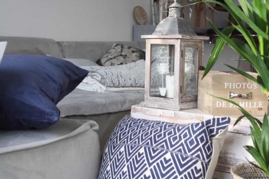 Déco Scandinave bleu Marine, motif Berber et Aztec H&M