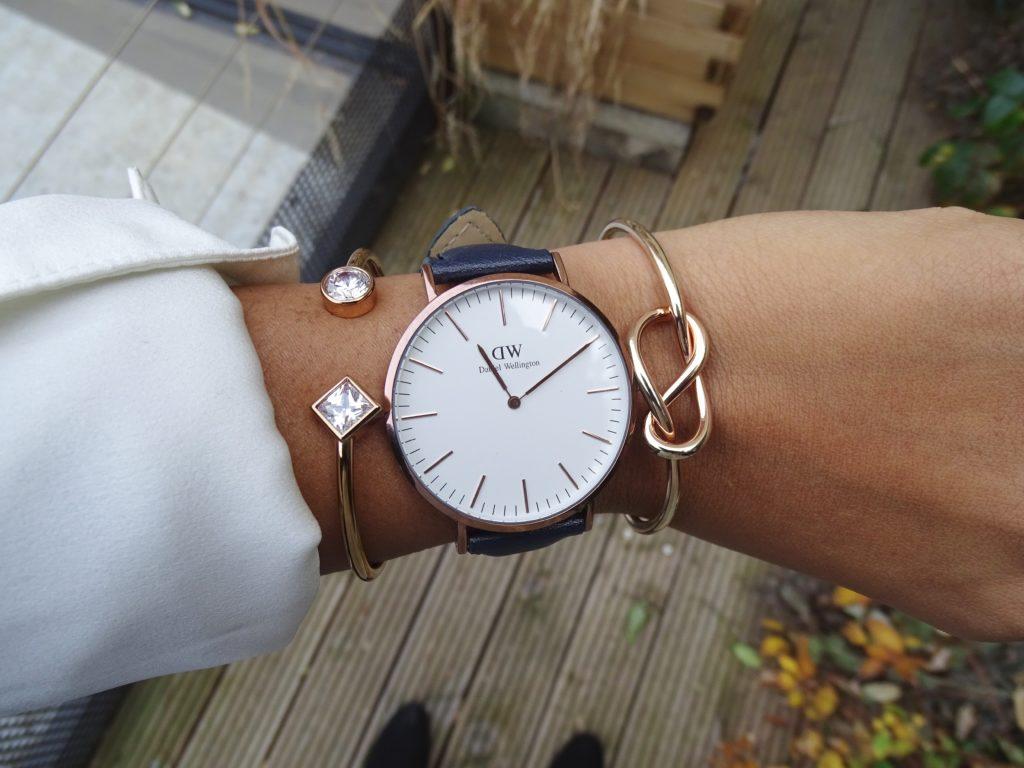 Bracelet bleu montre Daniel Wellington