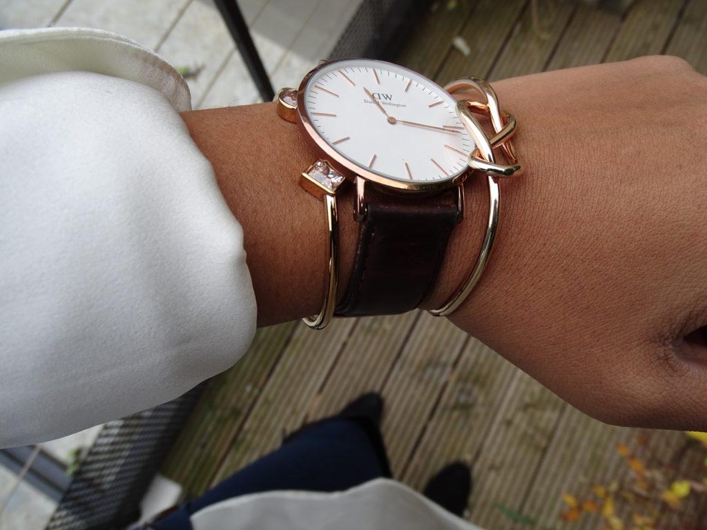 Bracelet marron montre Daniel Wellington
