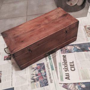 Restaurer coffre en bois