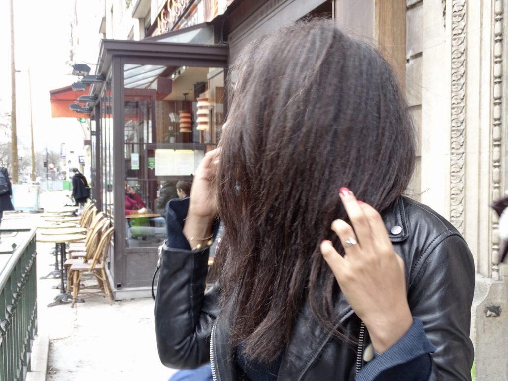 Lissage a la keratine cheveux crepus